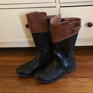 Vegan Leather Riding Boots
